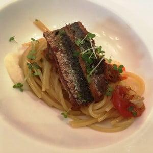 pasta con sardinas rest alto Enrique D lima