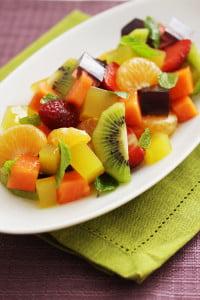 ensalada de gelatina y frutas