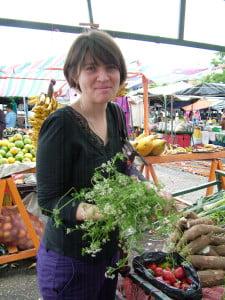 Diana Garrido en el Mercado de Soto Rosa, Mérida