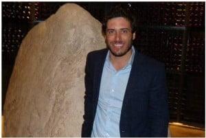 Sebastián Zuccardi con la piedra infinita