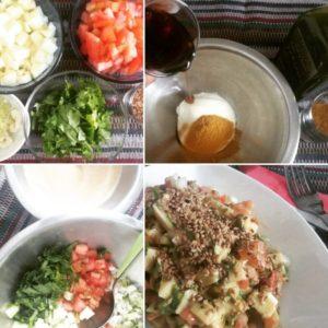 ensalada de mango verde tomate y curry recetas en 4