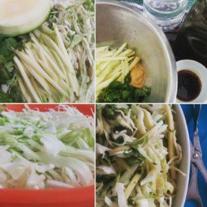 ensalada de repollo y mango verde recetas en 4